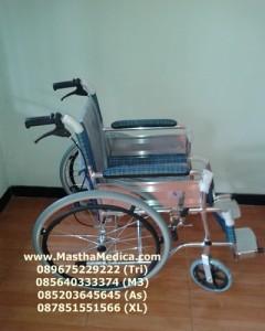 Toko Jual Kursi Roda Alumunium Ringan Besar Rem pendorong Belakang
